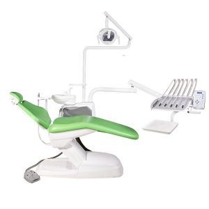 یونیت دندانپزشکییونیت دندانپزشکی وصال گستر طب مدل ۱۲۰۰ وصال گستر طب مدل 1400: یونیت دندانپزشکی مهمترین بخش تجهیزات مطب ها به حساب می آیند و عملا انجام هرگونه درمان بر روی بیمار بدون یونیت صندلی عملی نخواهد بود.یونیت ها باید به گونه ای طراحی شوند که سلامت و تسلط دندانپزشک و آرامش بیمار را تامین کنند. به همین دلیل یونیت صندلی های وصال گستر با تعبیه کردن زیر سری منحنی شکل راحتی ای مانند یک مبل راحتی را به ارمغان می آورند و همچنین طراحی یک قوص باریک به گونه ای است که پای دندانپزشک داخل این قوص قرار بگیرد و فاصله ی بیمار را با دندانپزشک بسیار کم کند تا فشار کمتری به ستون مهره های دندانپزشک وارد شود. در ادامه از دیگر ویژگی های این یونیت دندانپزشکی خواهیم گفت. ویژگی های یونیت دندانپزشکی وصال گستر مدل 1400 : طراحی این یونیت دندانپزشکی ایرانی باعث قرار گیری درست دو آرنج دندانپزشک حین کار میشود تا تنش های عضلانی و خستگی را کاهش دهد. حین کار با یونیت، حرکات صندلی قفل میشوند که مانع از آسیب رسیدن به بیمار یا پزشک میشود. باکس کنار یونیت دارای برق اضطراری بوده و امکان چرخش 90 درجه را نیز دارد. هنگام جا به جایی صندلی ، حداکثر 9 ثانیه طول می کشد تا صندلی از پا یین به بالا یا از بالا به پایی بیاید. همچنین دارای کلید اورژانسی و سنسور پشتی صندلی است . صندلی این یونیت دارای طراحی یکپارچه ست. مشخصات فنی یونیت دندانپزشکی وصال گستر مدل 1400: این یونیت صندلی ساخت ایران و یا کاربرد عمومی است. چرم صندلی آن قابل سفارش در رنگهای مختلف است و جنس صندلی از فوم سرد است. زیر سری صندلی قابلیت مولتی پوزیشن دارد. موتور صندلی توان بالا و صدای بسیار کمی دارد. تابلت دستگاه دارای 4 شلنگ از بالا با قابلیت افزودن یک شلنگ دیگر است. تابلت دارای صفحه کلید الکترونیکی و قفل بازوی پنوماتیکی است. یونیت متصل به صندلی است و دارای کراشوار سرامیکی و متحرک است.ساکشن دستگاه هوایی با قدرت زیاد و دارای فیلتر است و یونیت قابلیت اتصال به ساکشن مرکزی را دارد و همچنین دارای سیستم ضد برگشت بزاق نیز هست.چراغ دستگاه LED است. دارای بودن مخزن اب اضطراری و گیج نمایشگر هوا از دیگر خصوصیات این دستگاه میباشد. استاندارد های این یونیت صندلی CE اروپا و ISO میباشد و دارای یکسال گارانتی و 10 سال خدمات پس از فروش است.